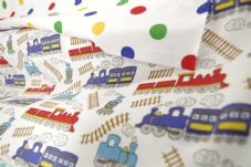 Train Fabric material poly cotton
